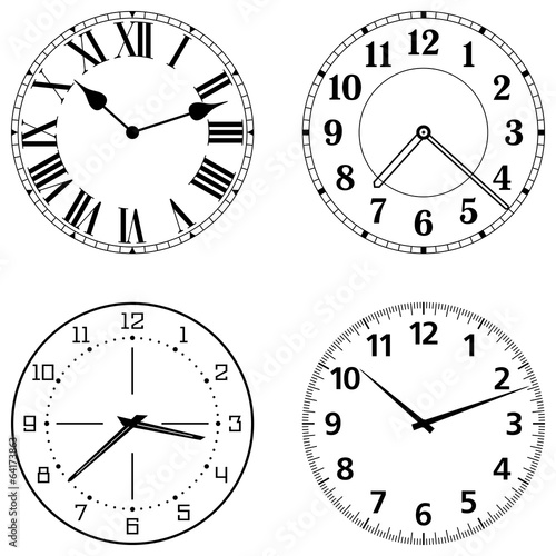 Set of different clock faces - 64173863