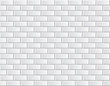 Seamless vector white brick wall - background pattern
