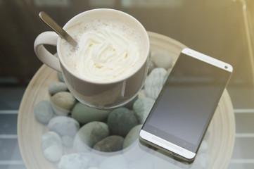 Чашка кофе со сливками
