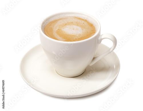 Foto op Canvas Koffie latte cup