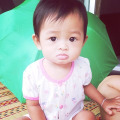 Little girl with retro filter effect