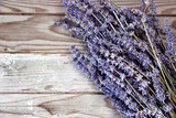 Fototapety Lavender flowers on the wooden background