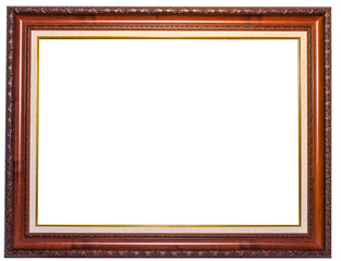 Wood frame with floral