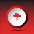Storm. Plastic button. Vector illustration.