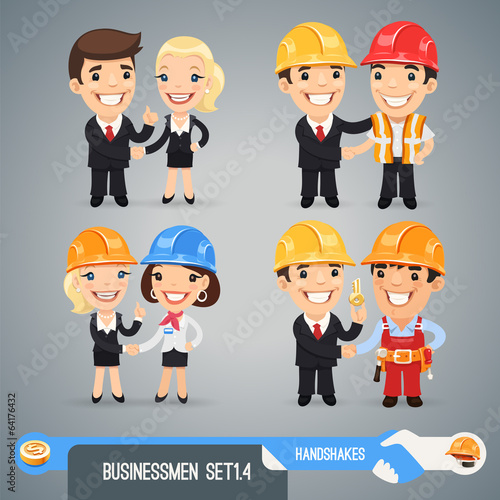 Businessmans Cartoon Characters Set1.4