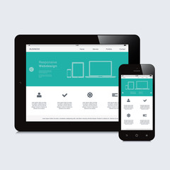 tablet and phone responsive webdesign