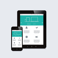 tablet and smartphone responsive webdesign