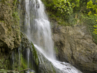 Waterfall near the beautiful village Krushuna in Bulgaria