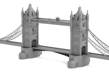 realistic 3d render of tower bridge model