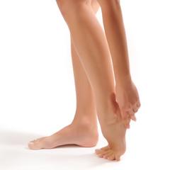 Pain in a foot. Sports trauma