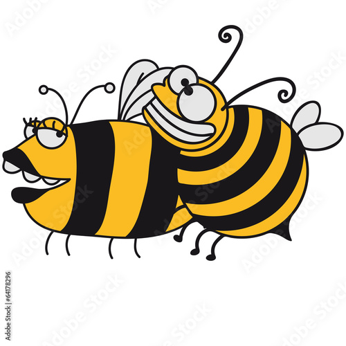 Große dicke Biene