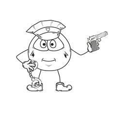 policeman sketch