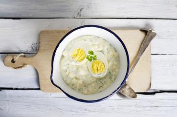 Eiersauce mit Mayonnaise