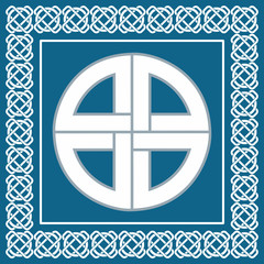 Celtic knot,protection symbol used by vikings,vector