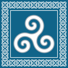 Ancient symbol triskelion,celtic ethnic sign,vector