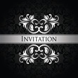 Stylish invitation with vintage ribbon