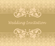 Elegant wedding invitation. Can be used as card