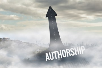 Authorship against road turning into arrow