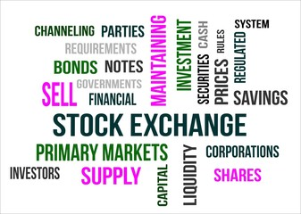 STOCK EXCHANGE - word cloud