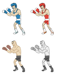 cartoon boxers