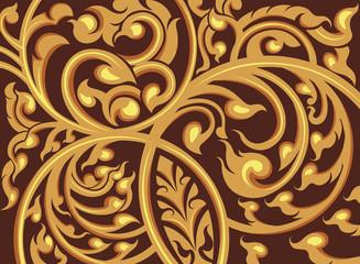 Vine pattern on a brown background
