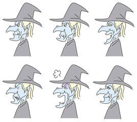 魔女の横顔アイコン
