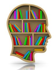 Bookshelf in the Shape of Human Head