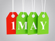 1 MAY etiquettes - best prices on the 1st may