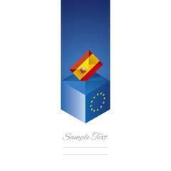 EU elections in Spain vector