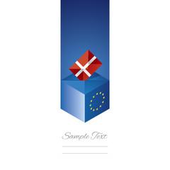 EU elections in Denmark vector