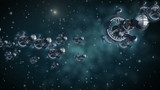 Alien spaceships in interstellar deep space travel