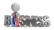3d small people - business magnet