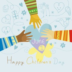 Happy, colorful Children's Day