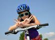 portrait of a girl on bike