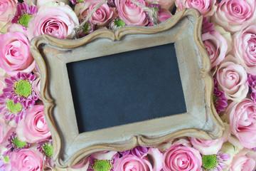 Blank Slate on Pink Roses