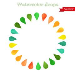 Watercolor drops