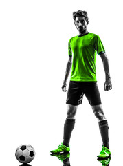 soccer football player young man standing defiance silhouette