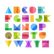 Geometric shapes alphabet letters