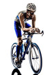 man triathlon iron man athlete cyclists bicycling - 64184655