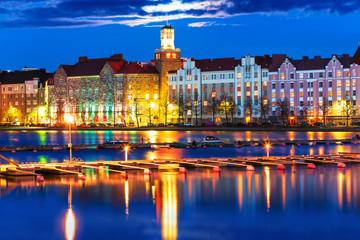 Night scenery of Helsinki, Finland