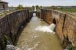 Canal castilla locks in Fromista - 64184864