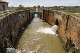 Canal castilla locks in Fromista