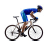 cyclist cycling road bicycle silhouette - 64185034