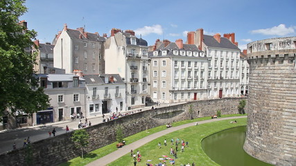 City of Nantes in France, view from the Castle