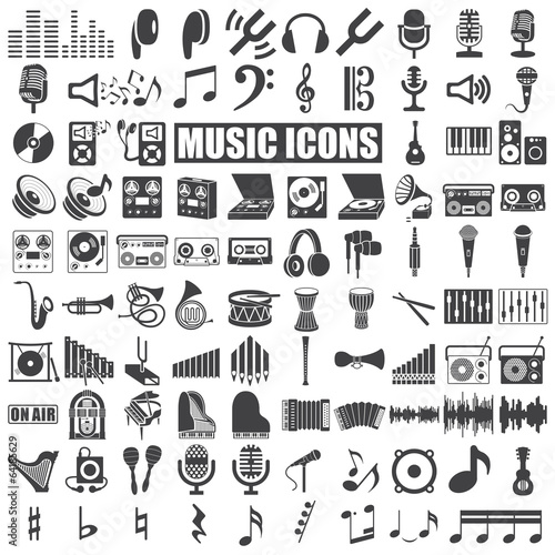 Music Icons - 64185629