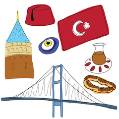 Vector symbols of Turkey