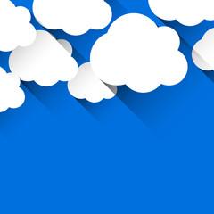 White paper flat clouds. © Vjom