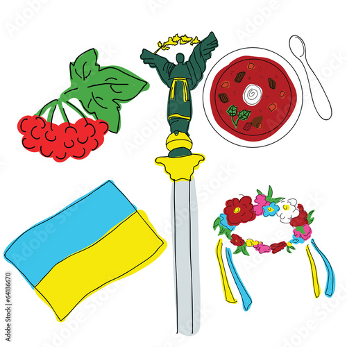 Vector symbols of Ukraine