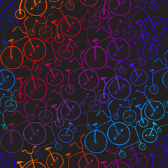 Seamless bicycles pattern. Bikes. Use for pattern fills, surface