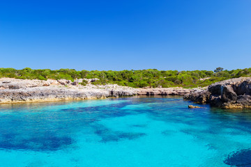 Menorca island south coast in sunny day